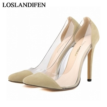 11 Colors High Heels Brand Flock Women Pumps Pointed Toe High Heels Shoes Woman Wedding Pumps Plus Size 34-42 NLK-C0022