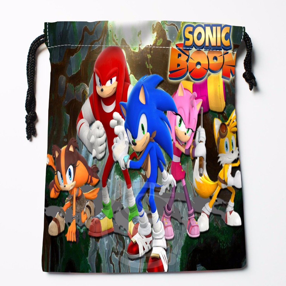 TF&21 New Sonic The Hedgehog #6 Custom Printed Receive Bag Bag Compression Type Drawstring Bags Size 18X22cm &81#21