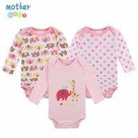 100 Cotton Baby Bodysuit 3pieces Lot Autumn Newborn Cotton Body Baby Long Sleeve Underwear Next Infant