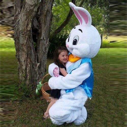 Costumes de mascotte de lapin de pâques mascotte de lapin adulte