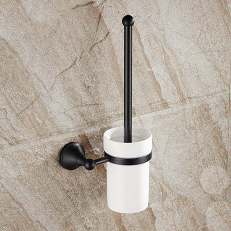 Oil Rubbed Bronze Bathroom Toilet Brushes & Sets+ Cup+ Brush + Holder Ceramic bathroom toothbrush cup holder double ceramic cup solid brass cup holder oil rubbed bronze