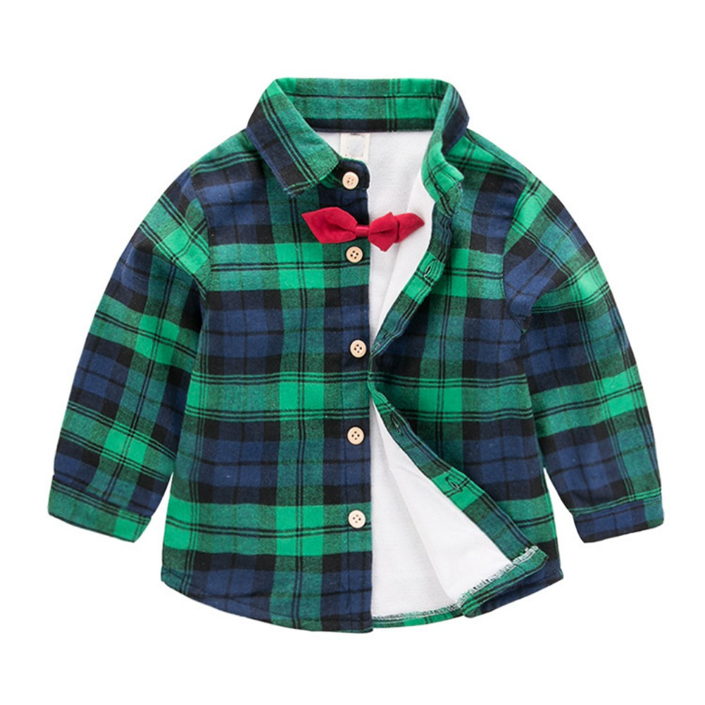 2018 Boys Clothes For 2-7 Y Baby Long Sleeve Shirt Plaids Checks Tops Blouse Casual Clothes Girls Boys Plaids Shirt