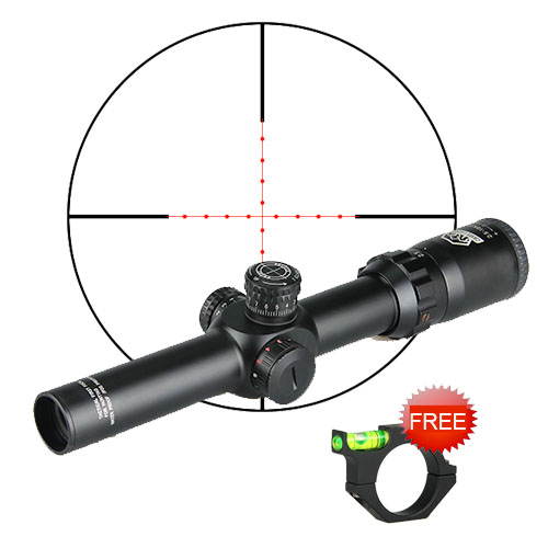 CANIS LATRANS Optical sight FFP Riflesope 2 5 10X26 Green Red Illuminated Scope sight With Airsoft Gun 20MM 11MM Scope rail Weaver Mount in Hunting Optical riflescopes OS1 0253 in Riflescopes from Sports Entertainment