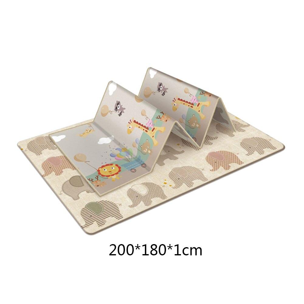 Tapis de jeu rampant antidérapant pour enfants en plein air pliable pour bébé tapis Double face résistant à l'humidité sans odeur pour la maison