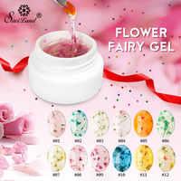 Saviland 12 Farben 3D Getrocknete Blume Gel Polnisch Nägel Kunst Dekoration Gel Nagellack Weg Tränken UV LED Top lack