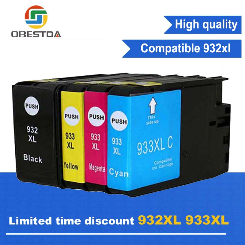 Compatible Ink font b Cartridge b font Replacement For HP 932 XL 933 XL for Officejet