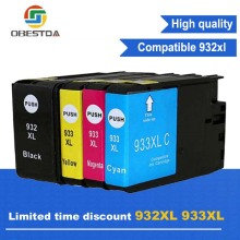 Compatible Ink Cartridge Replacement For HP 932 XL 933 XL for Officejet 6100 6600 6700 7110 7510 7610 7612 Printers