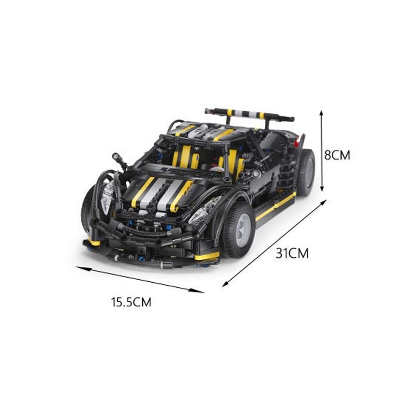 1177Pcs Nieuwe MOC Serie Balisong Sport Auto Model Building Kits Set Educatief Blokken Model Auto Speelgoed Kinderen Gift - 6
