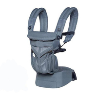 Omni 360 Cool Air Mesh Ergonomic Baby Carrier All Carry Positions, Newborn to Toddler Breathable Toddler Sling Wrap Suspenders