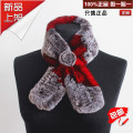 Double faced rex rabbit hair muffler scarf fur scarf rose thickening thermal all-match solid color false collar female