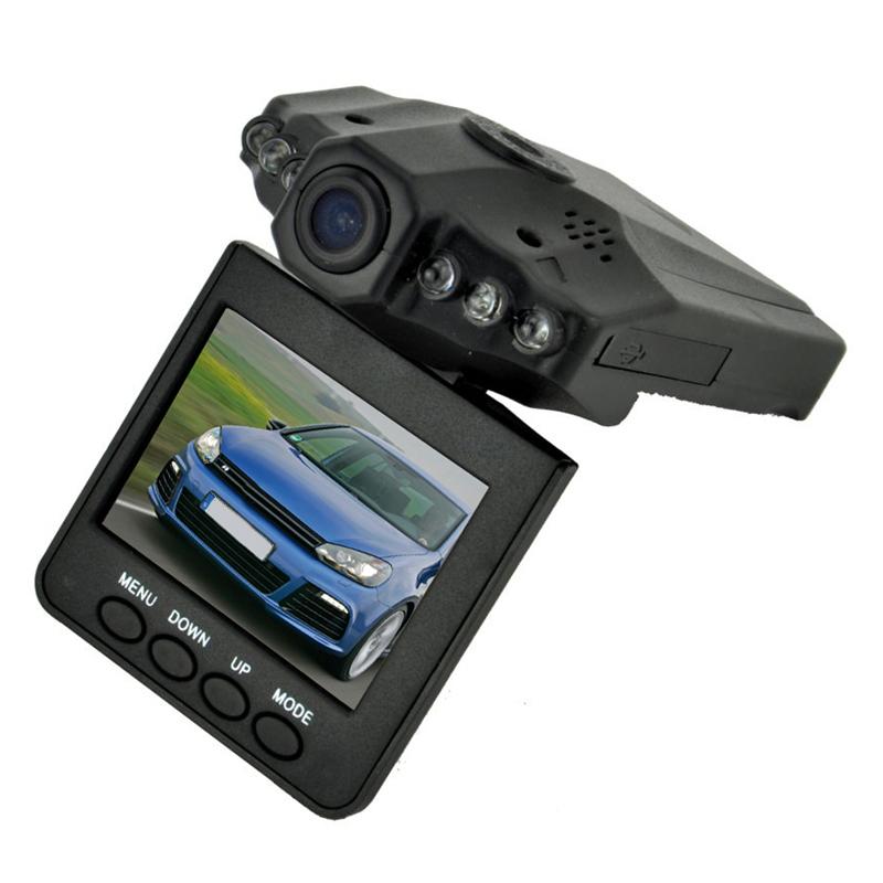 Prix pour 2.5 Pouce TFT Voiture DVR avec 6 LED Lights Auto voiture caméra vidéo enregistreur dash cam motion détection nuit vision G-Capteur