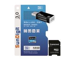 Brand New Reale Kapazität High speed SunDigit Micro sd-karte 32 gb SDHC Class10 uhs-i-speicherkarte tf-karte Mit Usb-kartenleser