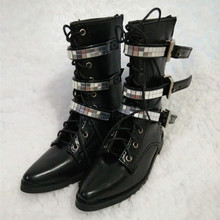 1 3 BJD Doll short boot black soom uncle