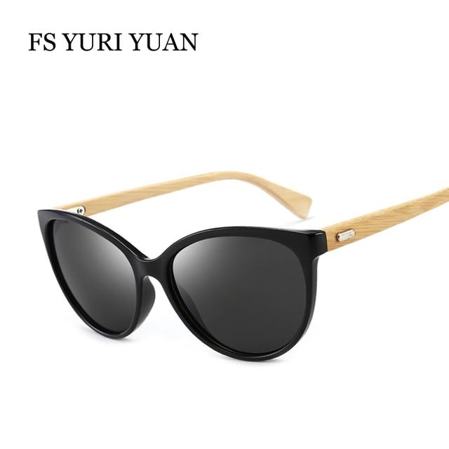 fd1a6d952beb 2018 Cat Eye Sunglasses For Women Bamboo Glasses Brand Design Frame  Handmade Wooden Eyeglasses Unisex Shades lunette oculo UV400
