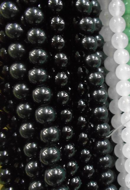 Free Shipping Natural Stone Black Obsidian Round Loose Beads 15