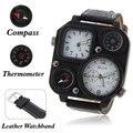 2016 Diseño Oulm Relojes de PRIMERAS Marcas de Lujo de Los Hombres reloj de Cuarzo de Acero Completo Antiguo Hombre Casual Reloj Militar Relojes Hombre
