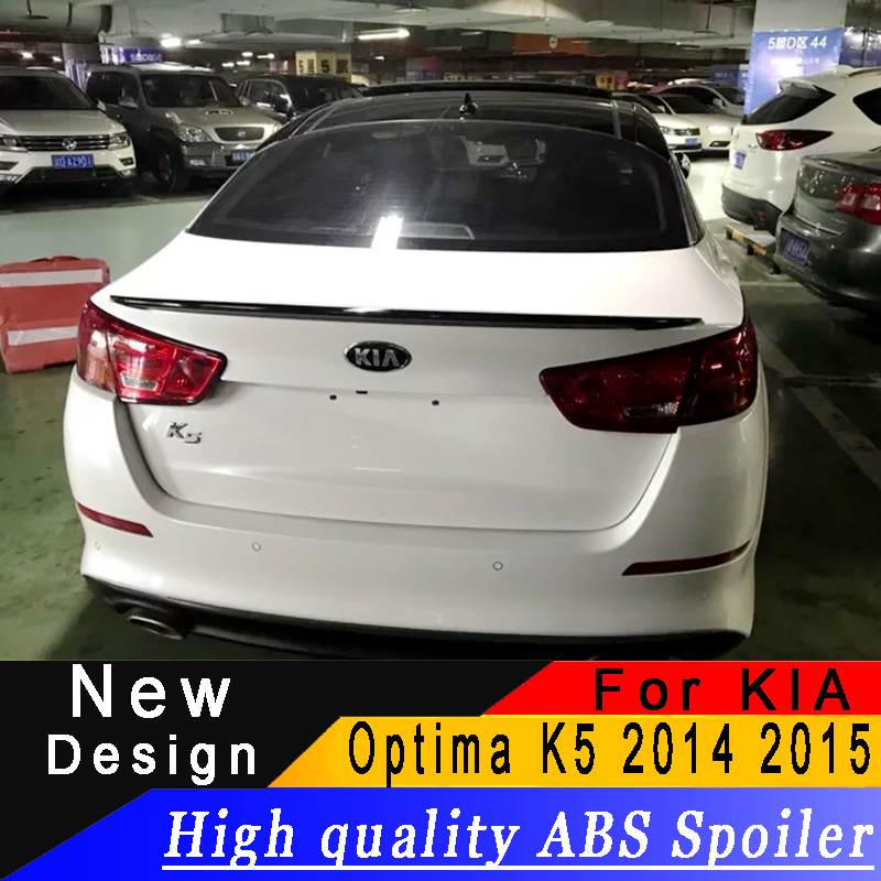 For Kia Optima K5 2014 2015 spoiler High quality ABS rear wing primer or any color rear spoiler For KIA Optima K5For Kia Optima K5 2014 2015 spoiler High quality ABS rear wing primer or any color rear spoiler For KIA Optima K5