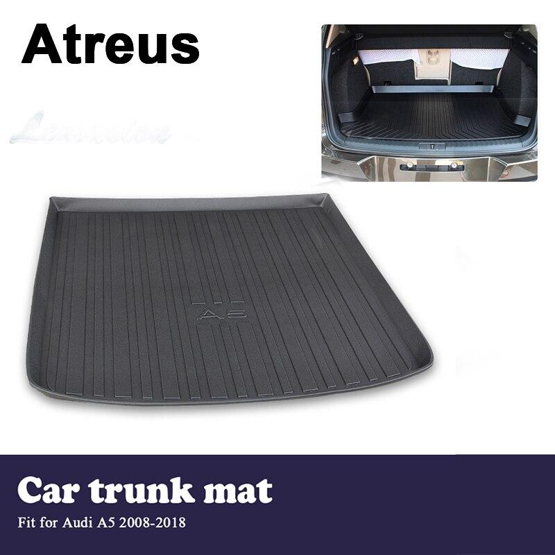 Atreus Car Waterproof Trunk Mat Tray Floor Carpet Pad For Audi A5 B8 B9 2008 2009 2010 2011 2012 2013 2014 2015 2016 2017 2018