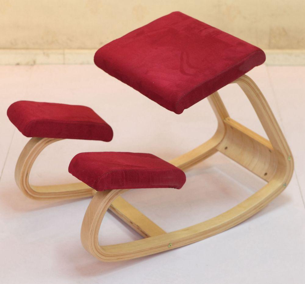 Best Ergonomic Kneeling Chair Stool Home Office Ergonomic Rocking Wooden Kneeling Computer Corrective Posture Chair Seat цена