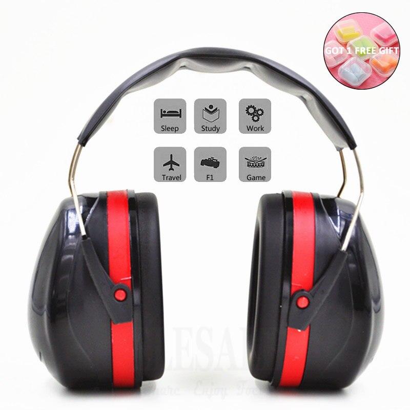 Cache-oreilles tête pliable Anti-bruit protecteur d'oreille NRR 30dB pour étude de travail bois de couchage tournage Protection auditive sécurité d'oreille