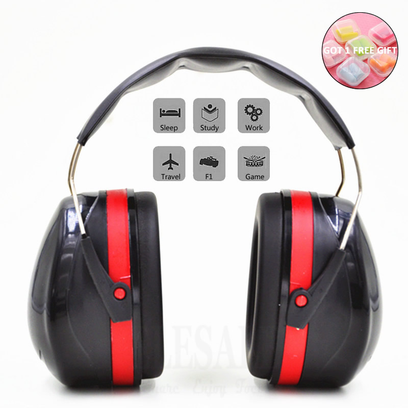 Foldable Head Earmuffs Anti-Noise Ear Protector NRR 30dB For Work Study Sleeping Woodwork Shooting Hearing Protection Ear Safety 10pcs safety shooting eva bullet round head
