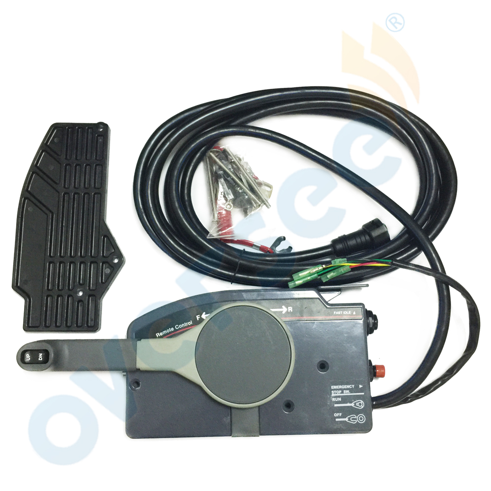 Outboard Remote Control Box 10Pin Cable 703 48205 17 PUSH Throttle for Yamaha