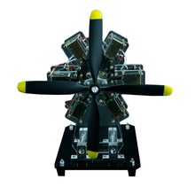 Electromagnet Engine Motor Toy Star Engine Multi-cylinder Engine Aircraft Engine Model Creative Science Experiment Gift DIY