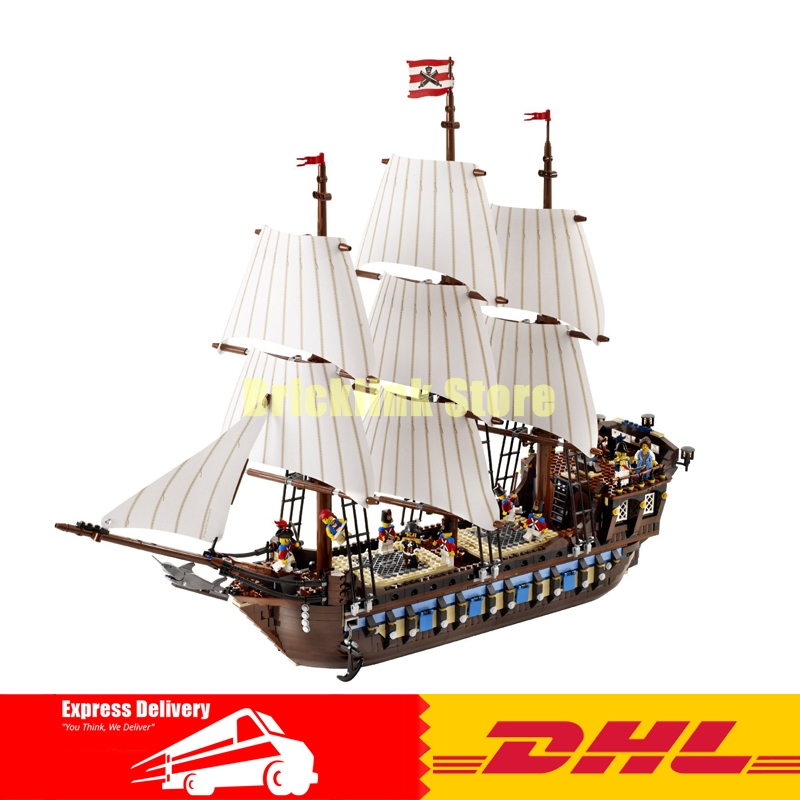 NEW LEPIN 22001 Pirate Ship warships Model Building Kits Block Briks Toys Gift 1717pcs Compatible 10210 for children new lepin 22001 pirate ship imperial warships model building kits block briks funny toys gift 1717pcs compatible 10210