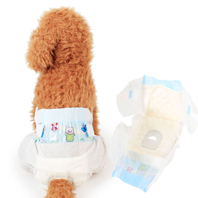 Ultra Protection Female Disposable Dog Diapers Soft \u0026 Comfrotable Pet for All Breeds Dogs XS S M L 10pcs/pack