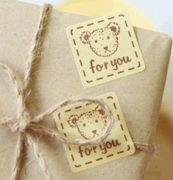 160pcs/lot  Cute Little Bear For You  Sealing sticker DIY Gifts posted Baking Decoration label Multifunction