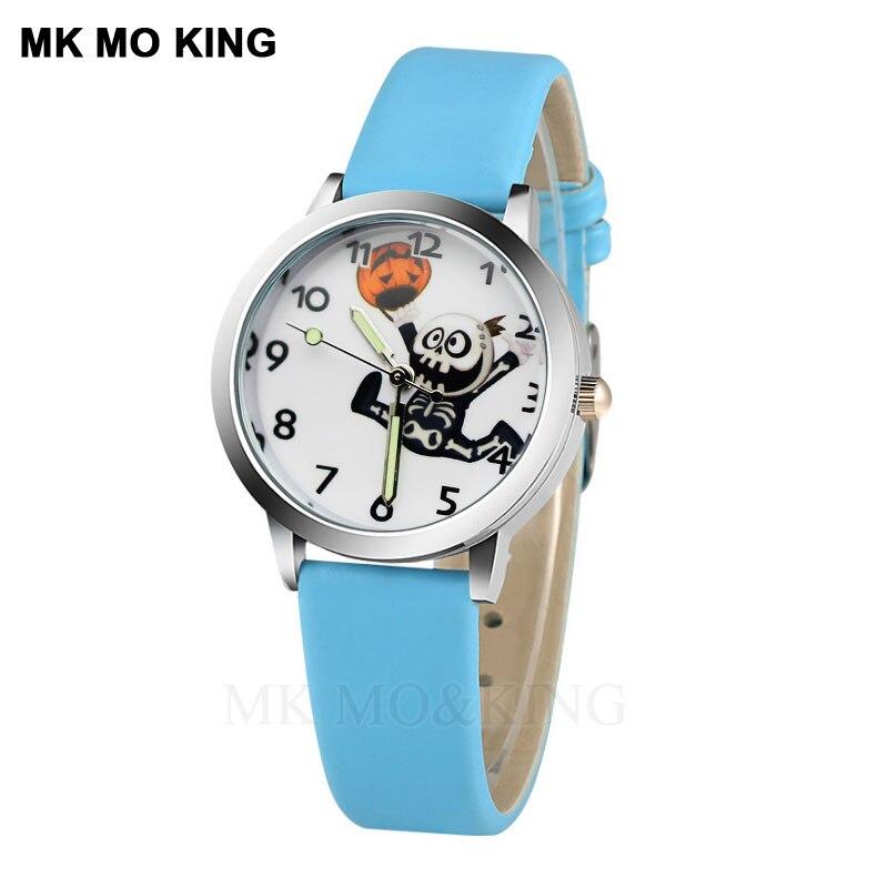 7-color Minimalist Design Children's Cartoon Skull Watch Girl Watch Children Fashion Watch Sport Jelly Cartoon New Boy Watch