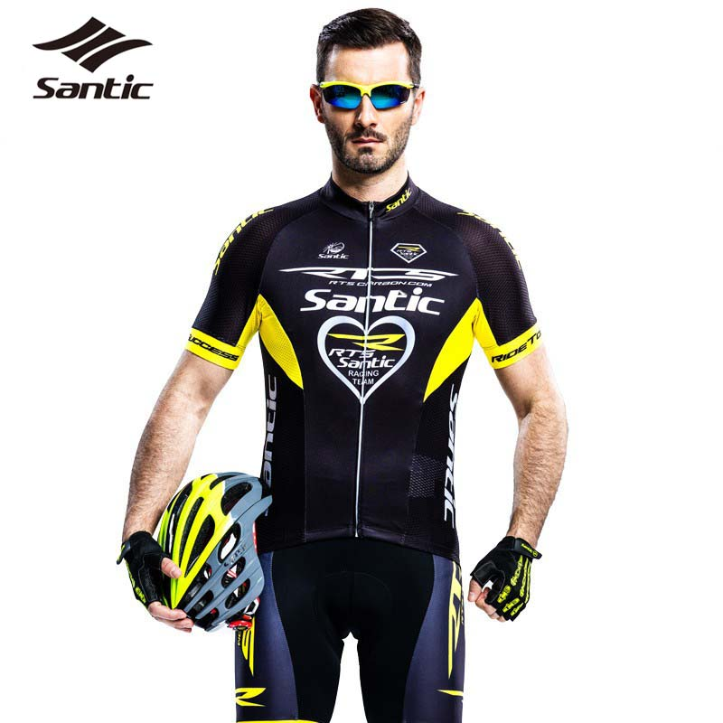 f50879255 New PRO Santic Summer Men Cycling Jersey Breathable Mesh Bike Bicycle  Clothing MTB Mountain Road Racing Clothes Ropa Ciclismo