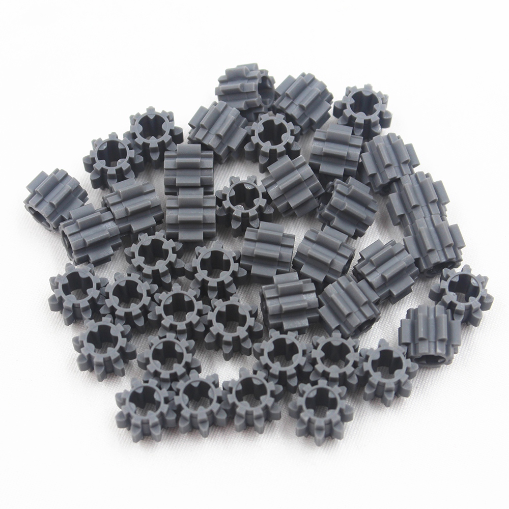 Technic Gear Cross Hole Z8 Compatible With Lego Technic Building Blocks Bulk Parts Kids Toys 40PCS/LOT