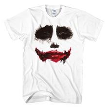 Косплей одежды джокер отпечатано уродливые испуганный короткий рукав рубашки мужчин женщин 2016 летний стиль сообщаем футболки XS-XXL