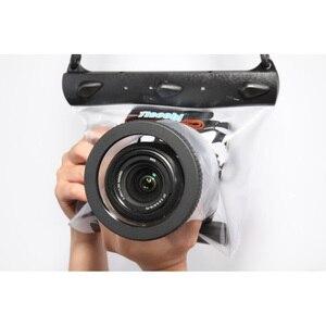 Image 2 - 20m 65ft מצלמה עמיד למים יבש תיק מתחת למים צלילה שיכון מקרה פאוץ שחייה תיק עבור Canon Nikon Sony Pentax DSLR GQ 518L