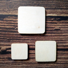 50pcs Laser Cut Wooden Customized Square Size Blank Unfinished Wood Stud Earrings Round Corners Crafts