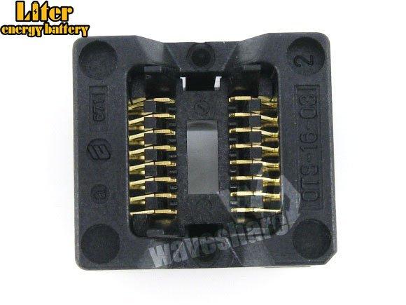 SOP8 SOP16 SO8 SO16 SOIC8 SOIC16 OTS-16-1.27-03 Enplas IC Test Burn-in Socket Programmer Adapter 1.27mm Pitch 3.9mm Width