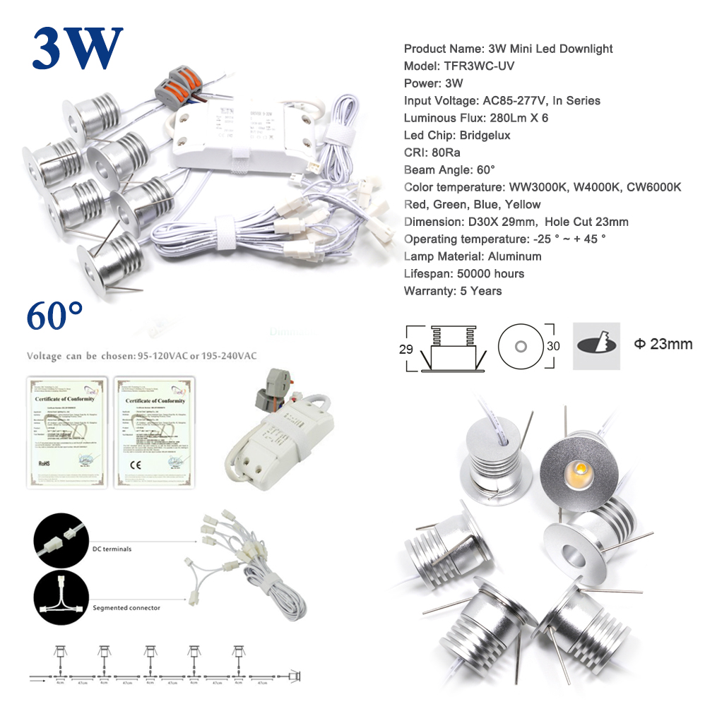 CE RoHS Mini 3W Epister 23mm Led Lightbulb 240Lm Floor Spot Lamp Indoor Spot Lighting 280Lm Home Hotel Garden Spotlight
