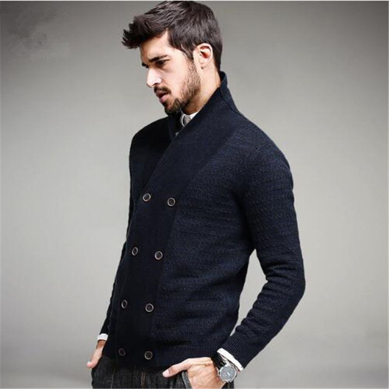 Men Fashion Wool Sweater Male Knitted  Fashion Mens Sweaters Spring Autumn Leisure Sweater for Men