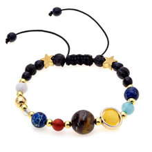 HOT Universe Planets Beads Bangles & Bracelets Fashion Jewelry Natural Solar System Energy Bracelet For Women or Men 2018(China)