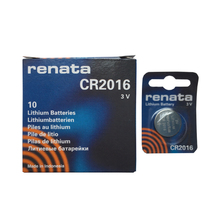 10pcs Renata CR2016 3V Button Cell Battery Swiss Watch Batteries For Toys Remote Control