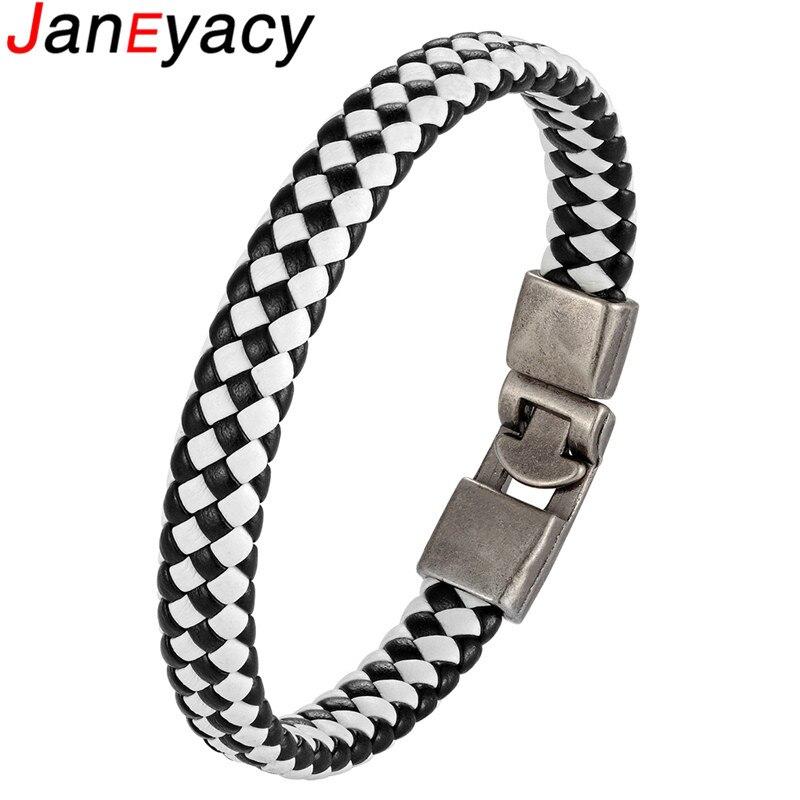 Купить высокое качество простой плетеный кожаный браслет с пряжкой