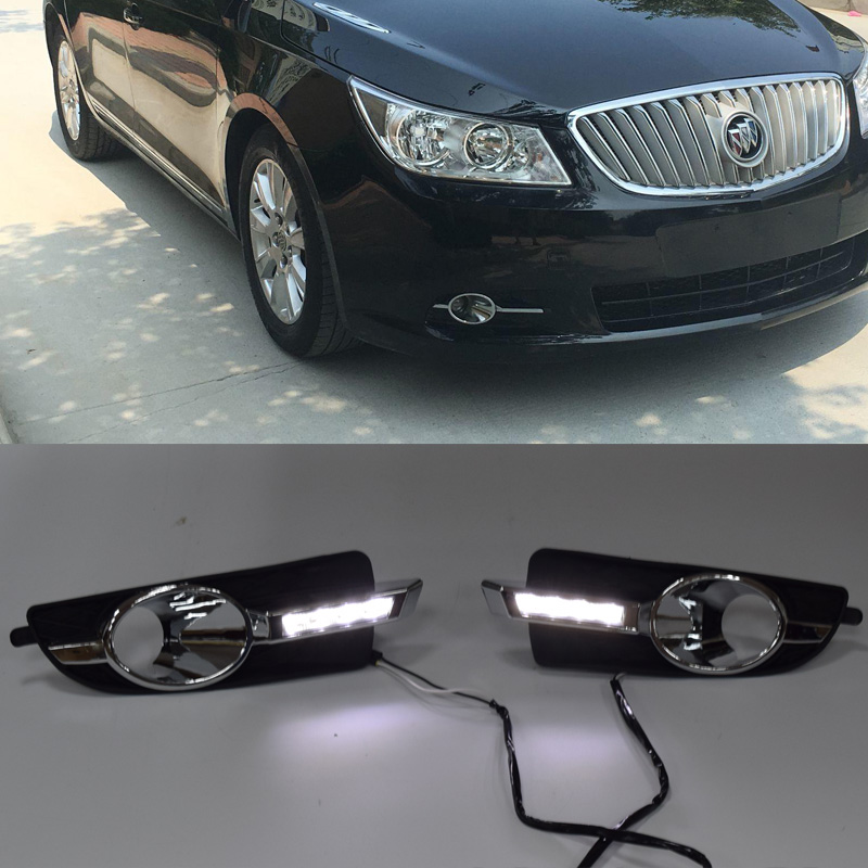 QINYI DRL For Buick Lacrosse Allure Alpheon 2010 2013 Car LED Daytime Running Lights Day Light
