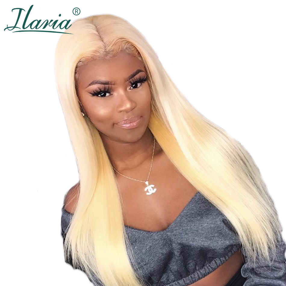 ILARIA Honey Blonde Lace Frontal Human Hair Wigs For Black Women Pre Plucked With Baby Hair
