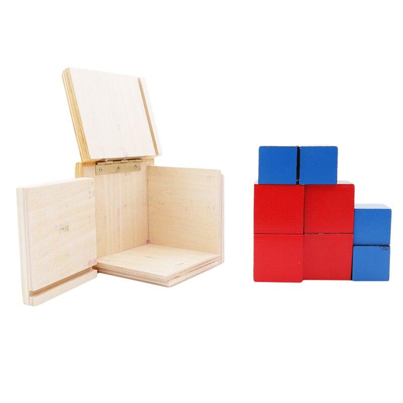 brinquedo de madeira blocos matemática