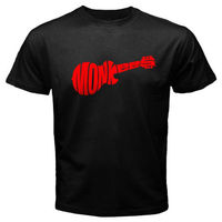 New THE MONKEES Logo Rock Band Music Legend Men's Black T-Shirt Size S To 2XL Brand Cotton Men Clothing Male Slim Fit T Shirt