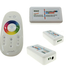 3Channels 2.4G LED RGB Controller 18A Touch Screen Remote Control for Strip  DC12-24V