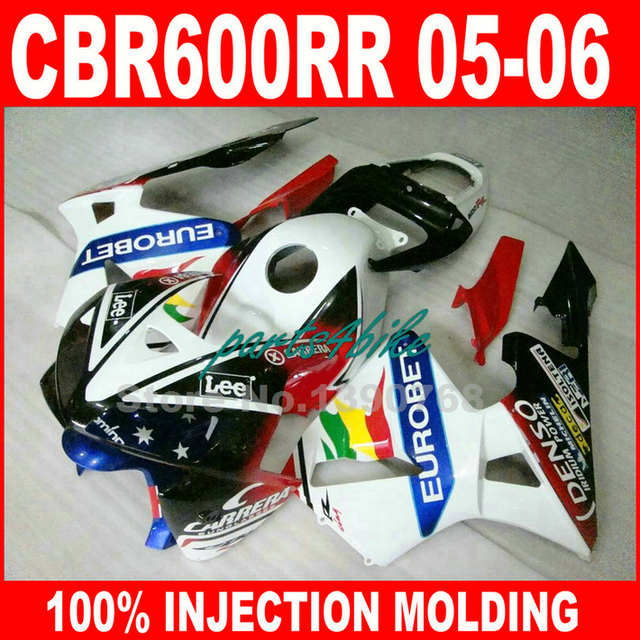 Lowest Price Injection Molded For Honda Cbr600rr Fairings 2005 2006