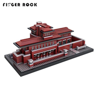 Finger Rock Diamond Building Block 2115PCS Well Known Architecture Villa Robie House Block Model Building Kits Educational Toys