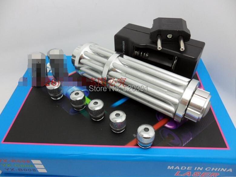 все цены на  2019 The Latest High power Blue Laser pointers 200w 200000mw 450nm Flashlight Burning match/black/Burn Cigarettes+5 caps+Gift  онлайн